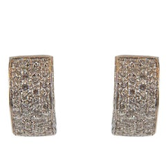 18KT White Gold Earrings with Diamonds