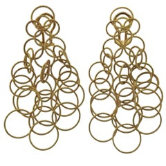 Buccellati Hawaii Gold Long Pendant Earrings