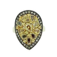 2.41 Carat Yellow Diamond Ring