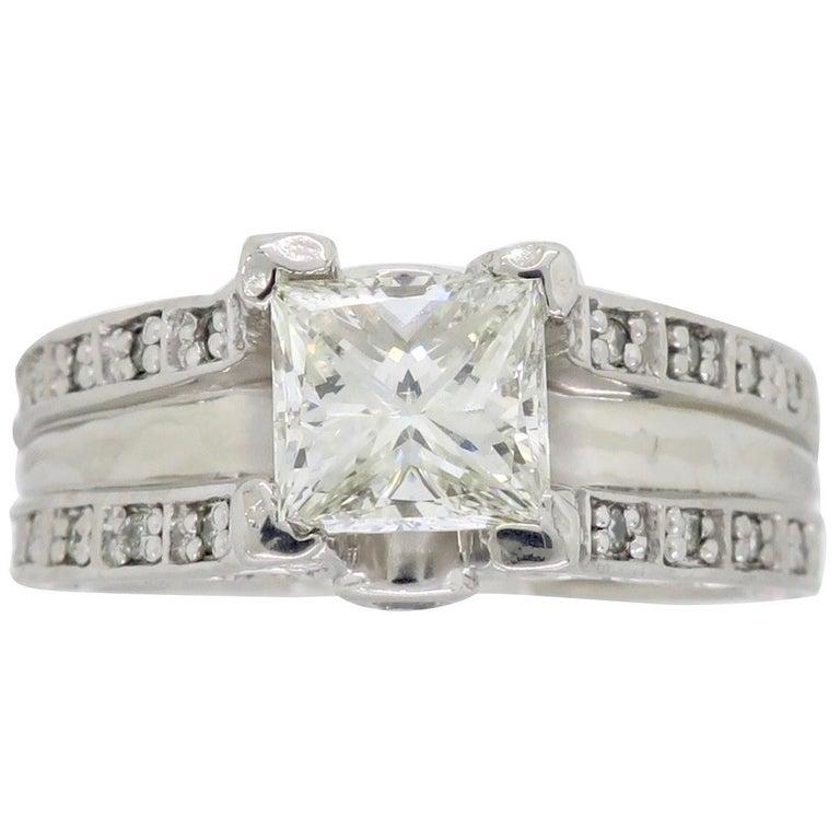 1.75 Carat Platinum Diamond Engagement Ring