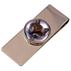 Yard Gold Reverse Crystal Fox Money Clip
