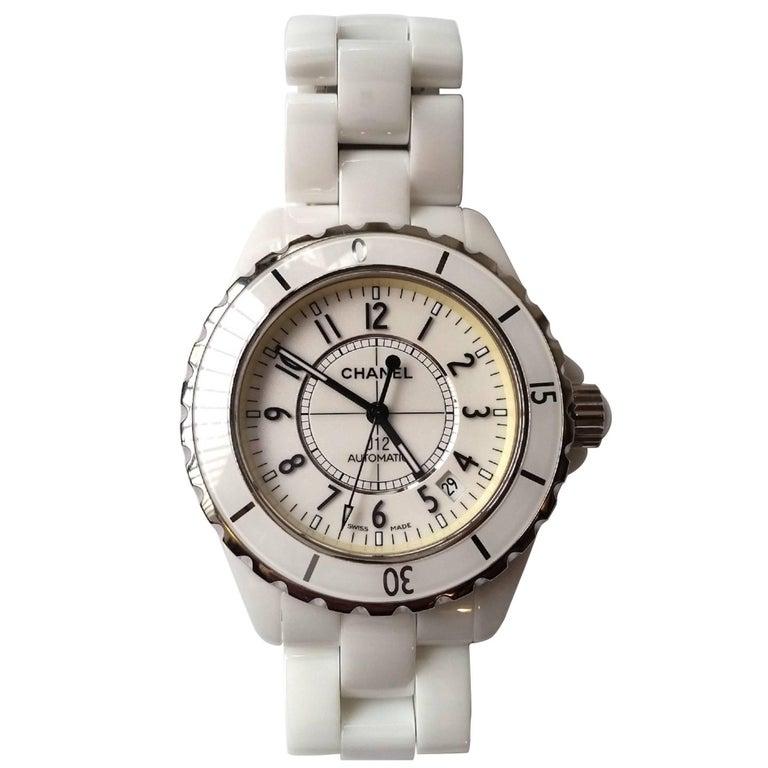 Chanel Stainless Steel Ceramic J12 Self-winding Wristwatch