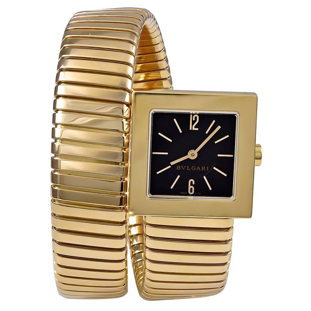 Bulgari Yellow Gold Serpenti Tubogas quartz Wristwatch