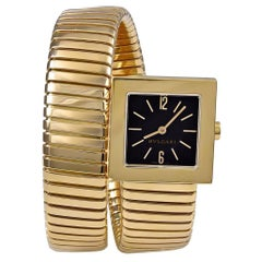 Bulgari Yellow Gold Serpenti Tubogas quartz Wristwatch
