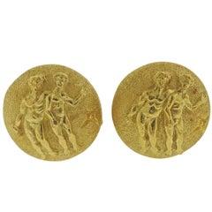Buccellati Gemini Zodiac Gold Cufflinks