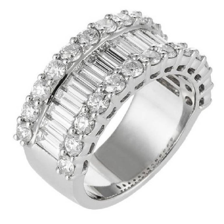 Baguette and Diamond Band