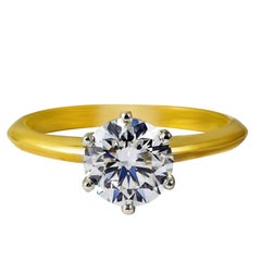 GIA Certified 1.52 Carat Round Brilliant Diamond Solitaire Engagement Ring