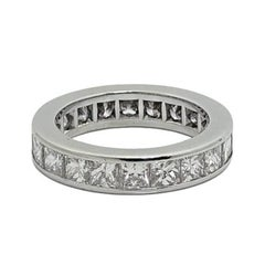 Kwiat 4.00 Carat Princess Cut Diamond Eternity Platinum Band