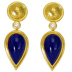 Lapis Lazuli and Diamond Earrings