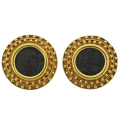 Elizabeth Locke Ancient Coin Gold Earrings