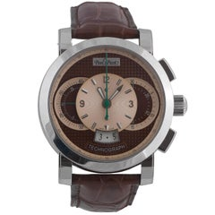 Paul Picot Stainless Steel Technograph Automatic Wristwatch