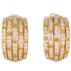Cartier Maillon Panthere Diamond and Gold Earrings