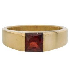 Cartier Yellow Gold Garnet Ring