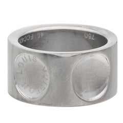 Louis Vuitton Wide Empreinte White Gold Ring