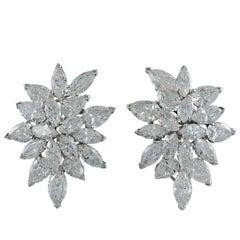 Van Cleef & Arpels Diamond Cluster Earrings