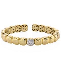 Papini Yellow Gold and Diamond Bracelet