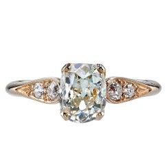 Cushion Cut Diamond Rose Gold Engagement Ring