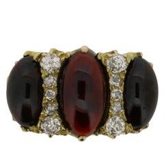 Victorian Garnet and Diamond Dress Ring, circa 1880s