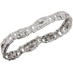 Platinum Art Deco Diamond Bracelet, circa 1920s