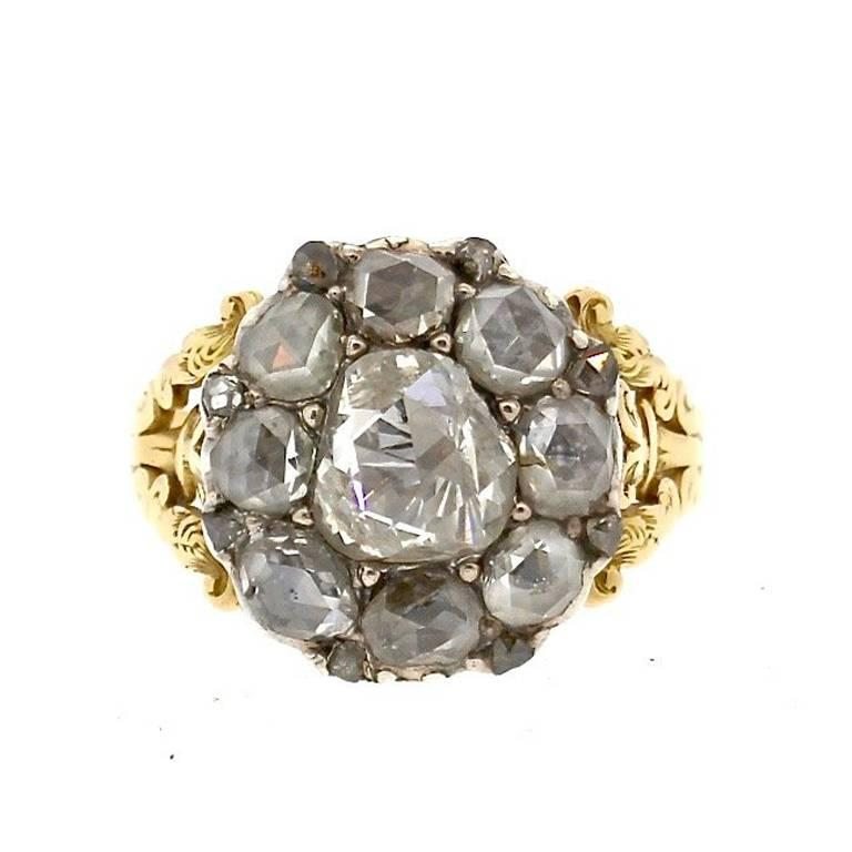 antique georgian rosecut gold ring for sale
