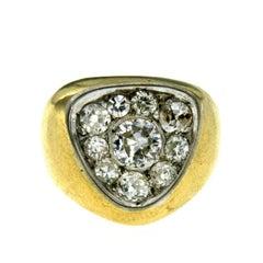 Diamond Gold Retro Ring