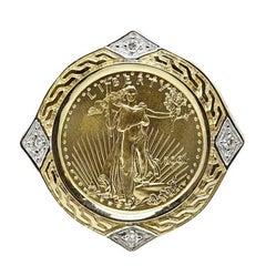 $10 Liberty Coin Yellow Gold Pendant