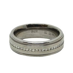 Bez Ambar Diamond Titanium and Platinum Eternity Band