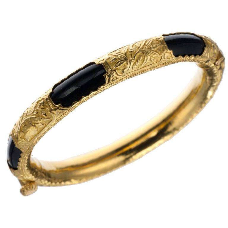 Black Onyx Bangle Bracelet In 24 Karat Yellow Gold At 1stdibs. Cheap Lockets. 5 Light Pendant. Australian Emerald. Solar Power Watches. Real Bracelet. Large Gold Lockets. Heart Pendant Necklace. Romantic Engagement Rings