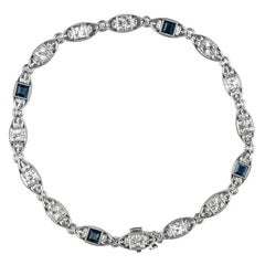 Tiffany & Co. Diamond and Sapphire Platinum Bracelet