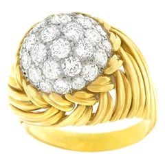 1960s Van Cleef & Arpels Diamond and Gold Ring
