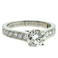 Cartier 1985 Solitaire Diamond Engagement Ring in Platinum