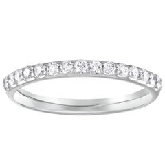 0.40 Carat Diamond Platinum Half Band Ring