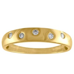 0.10 Carat Diamond Gold Band Ring