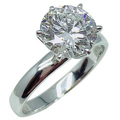 GILIN GIA Certified 2.01 Carat Round Brilliant Diamond Solitaire Engagement Ring