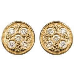 Bonds of Union 'Diamonds on a Flat Planet' Gold Plated Earrings. Ltd Ed. of 8