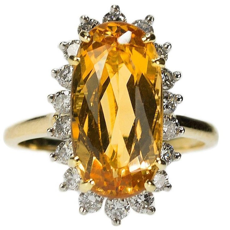 Imperial Topaz Ring For Sale