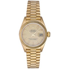 Rolex Ladies yellow gold President Champagne Dial Wristwatch Ref 69178