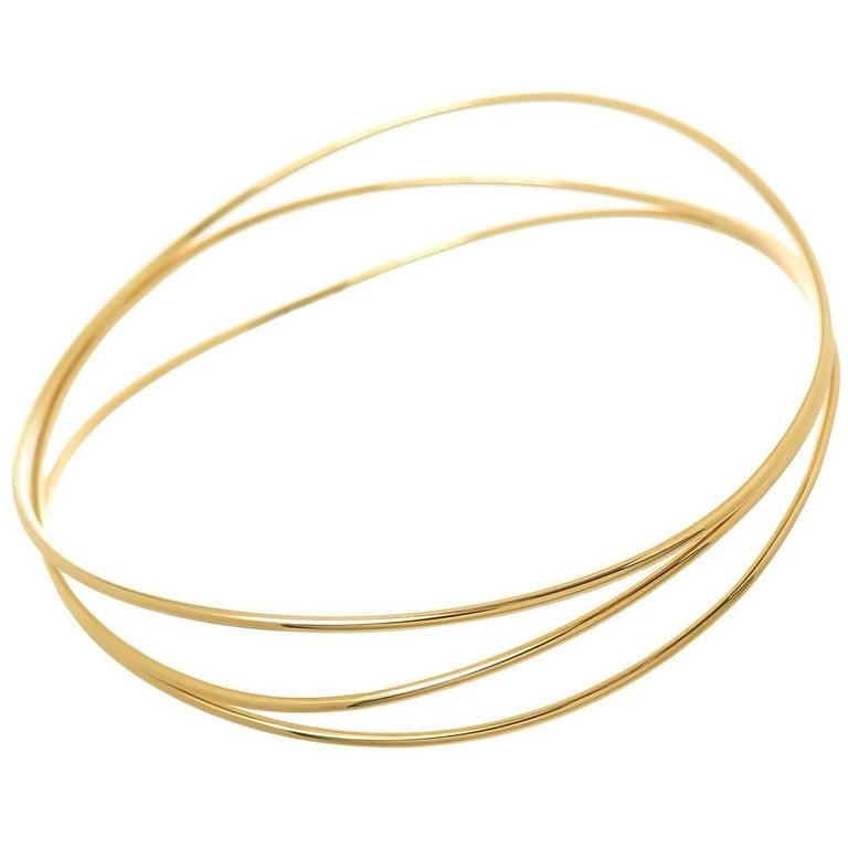 Tiffany & Co. Elsa Peretti Yellow Gold Wave Bracelet For Sale