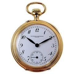 Vacheron Constantin 18k Yellow Gold Pocket Watch, Late 19th c