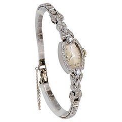 Hamilton Ladies Platinum Diamond Wristwatch