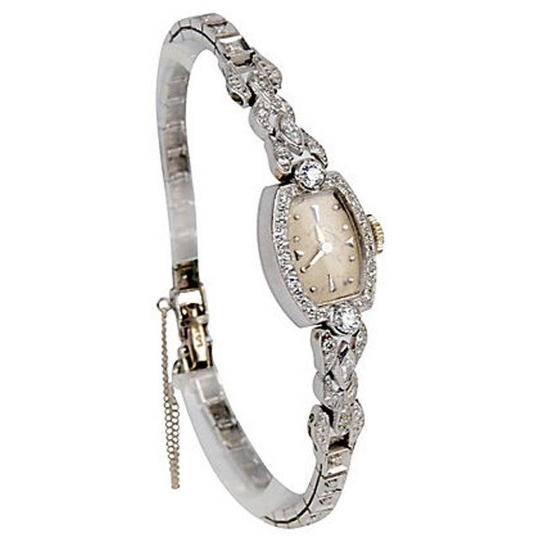 Hamilton Ladies Platinum Diamond Wristwatch