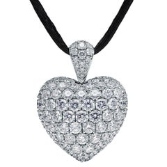 Towe Norlen 7.55 Carat Contemporary Diamond Heart Pendant Necklace