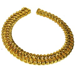 Henry Dunay Gold Large Link Necklace