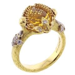 Anthony Nak Citrine and Diamond Ring