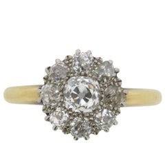 Late Edwardian Diamond Cluster Ring, circa 1910s