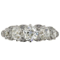 Edwardian Five-Stone Diamond Ring, circa 1910s