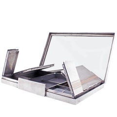 Asprey & Co. Sterling Silver and Gold Vanity Box, London, 1937