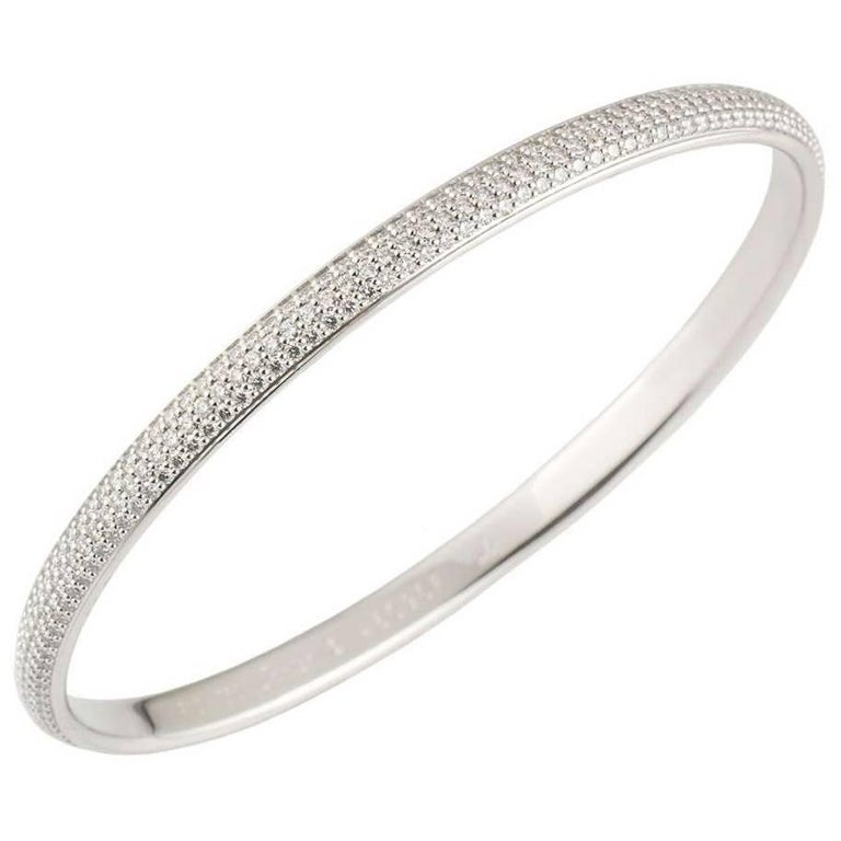 Cartier White Gold Diamond Bangle 4.05 Carat
