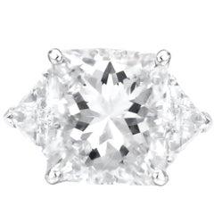 GIA Certified 13.73 Carat Radiant Cut Diamond Ring
