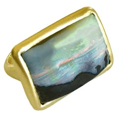 Dalben Sunrise Boulder Opal Gold Ring
